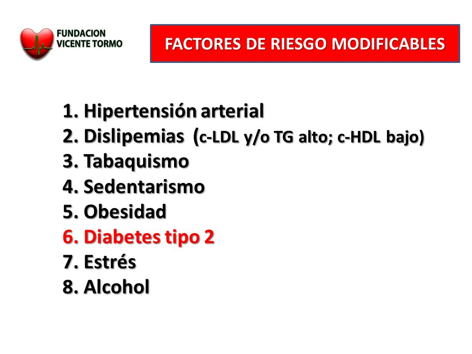 factores de riesgo de la diabetes tipo 2