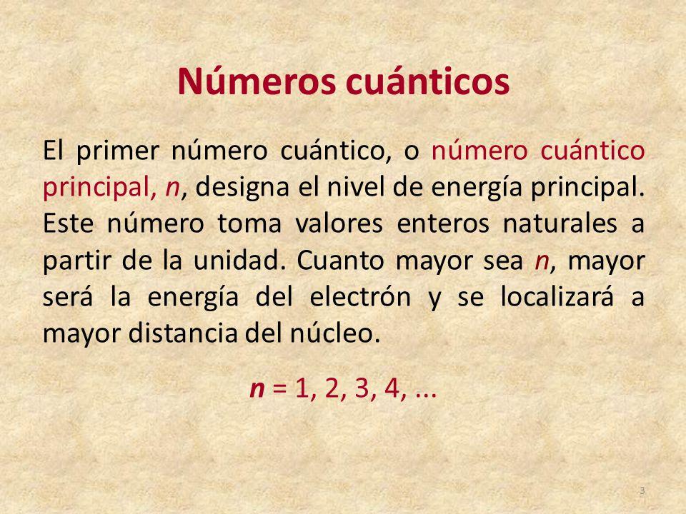 Tabla peridica de los elementos qumicos ppt video online descargar nmeros cunticos urtaz Choice Image