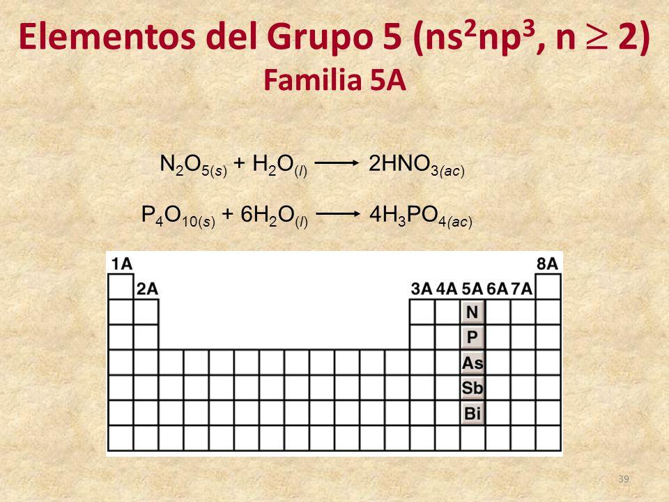 elementos del grupo 5 ns2np3 n 2