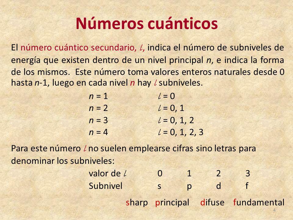 Tabla peridica de los elementos qumicos ppt video online descargar nmeros cunticos urtaz Image collections