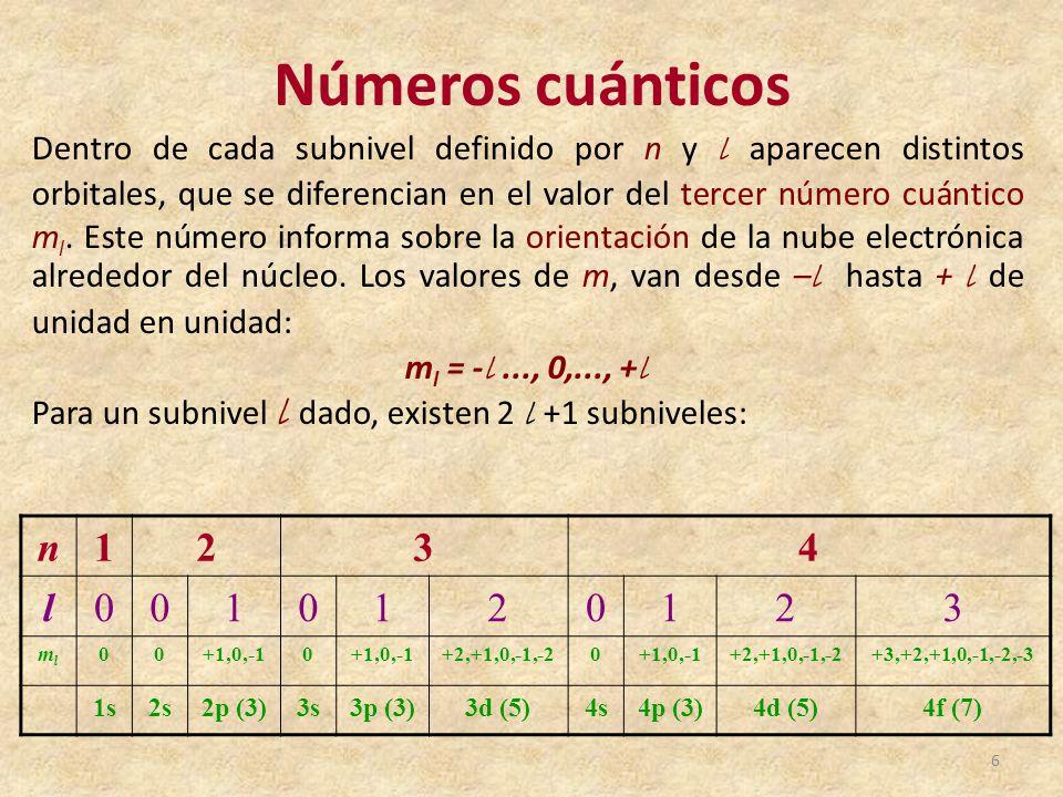 Tabla peridica de los elementos qumicos ppt video online descargar 6 nmeros cunticos urtaz Image collections