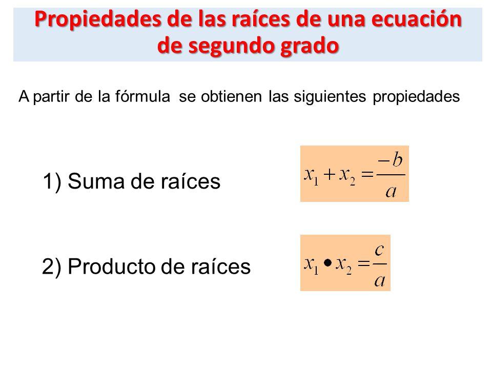 Formula Para Hallar Raices Ecuacion Cuadratica