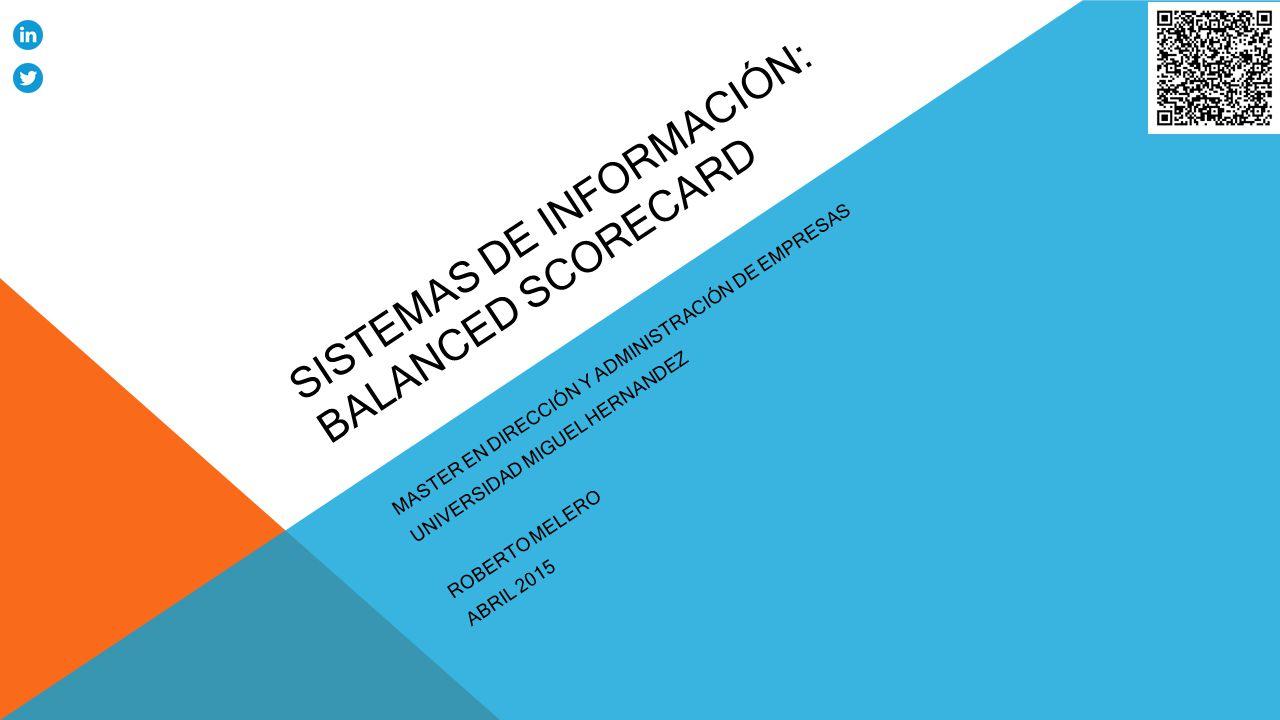 SISTEMAS DE INFORMACIÓN: Balanced Scorecard - ppt descargar