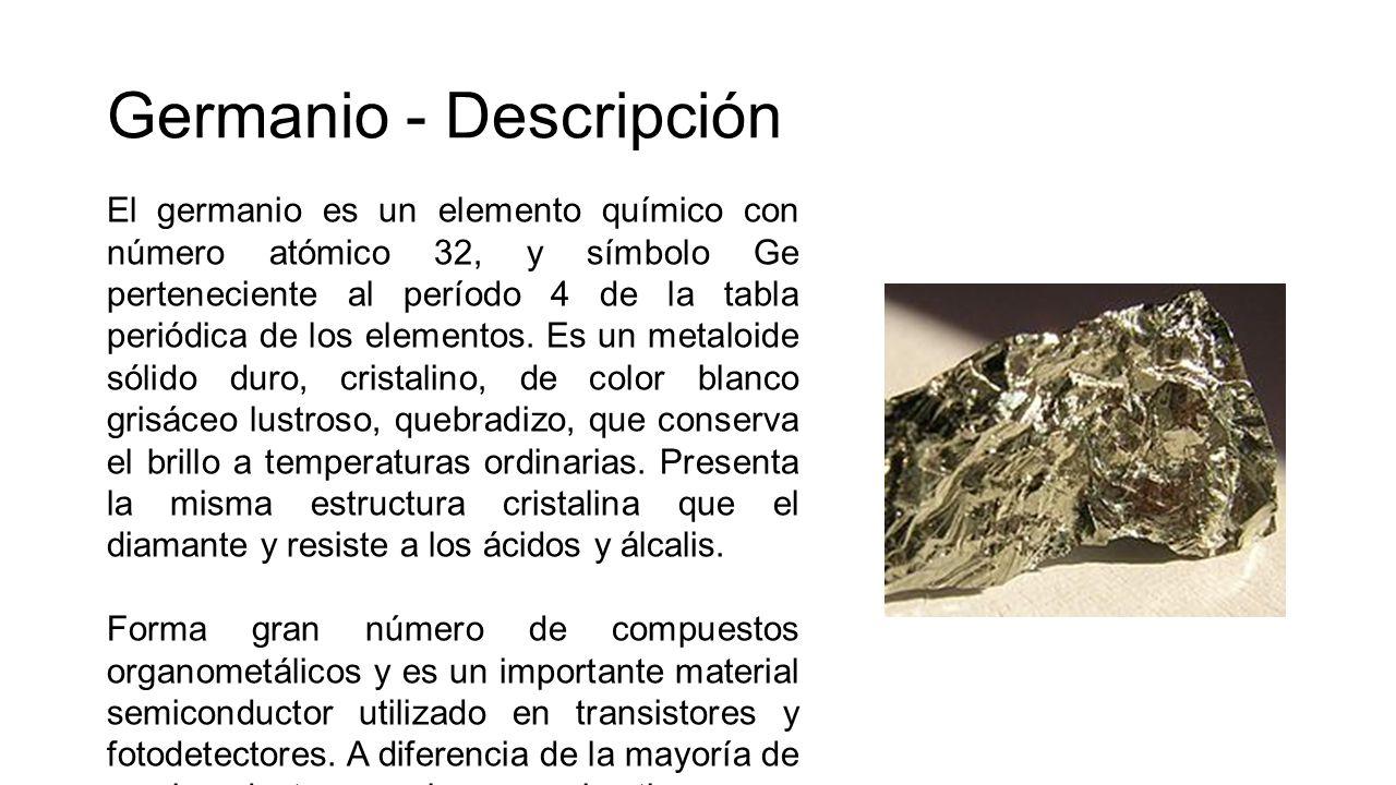 Fsica de semiconductores caracatersticas del si ppt video online germanio descripcin urtaz Gallery