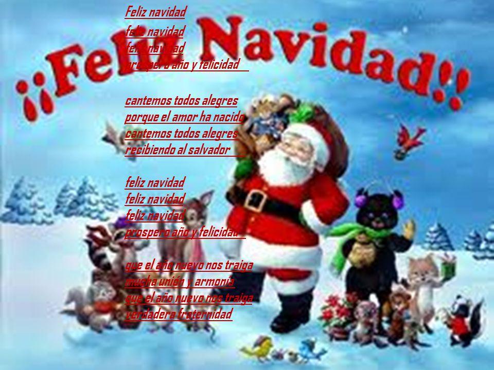 Villancico Feliz Navidad A Todos.Villancico Feliz Navidad Prospero Ano Niza Regalos De
