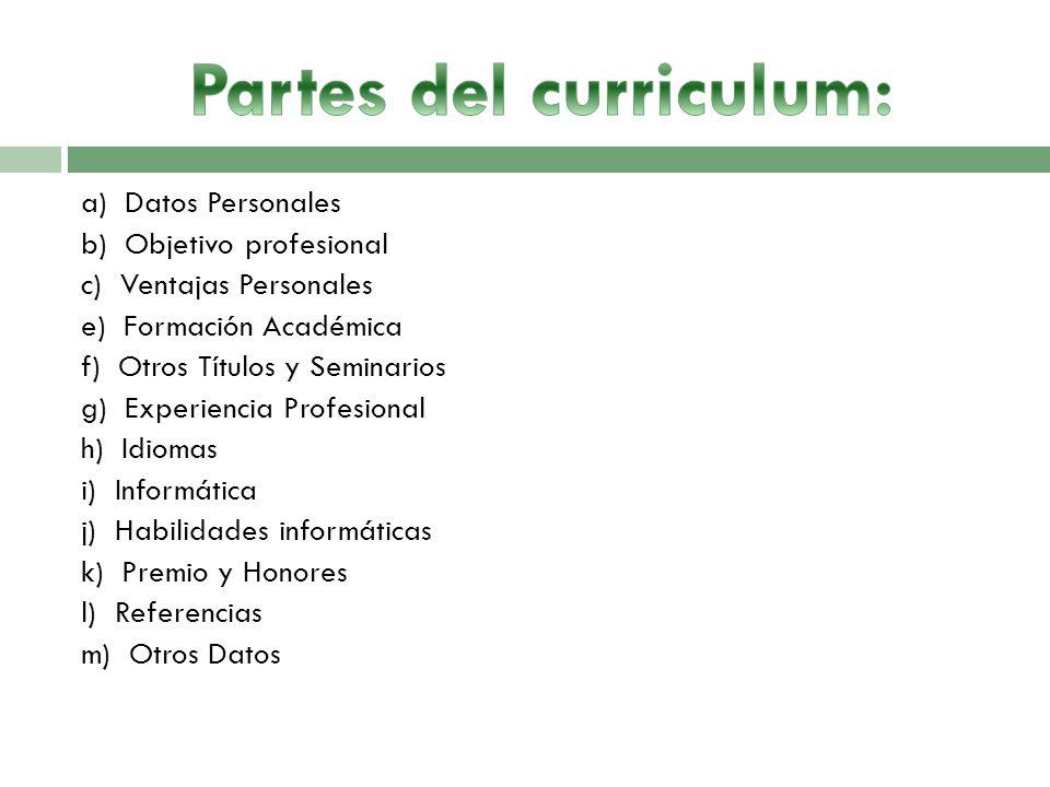 Acta De Reuniones Curriculum Vitae Informe De Labores Ppt Descargar