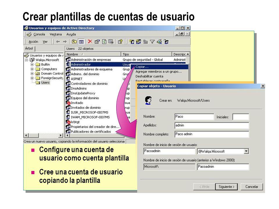 Creación y administración de cuentas de usuario de dominio - ppt ...
