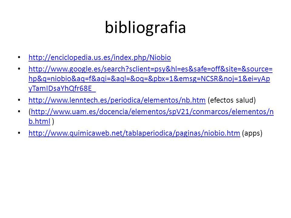 Niobio a ppt descargar 5 bibliografia urtaz Image collections