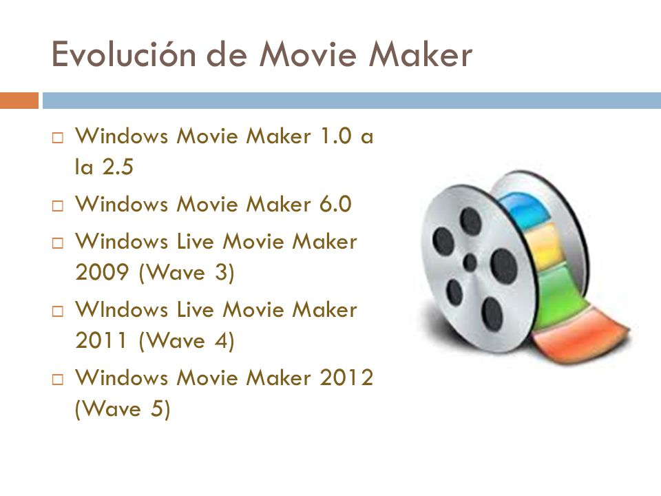 Evolución de Movie Maker