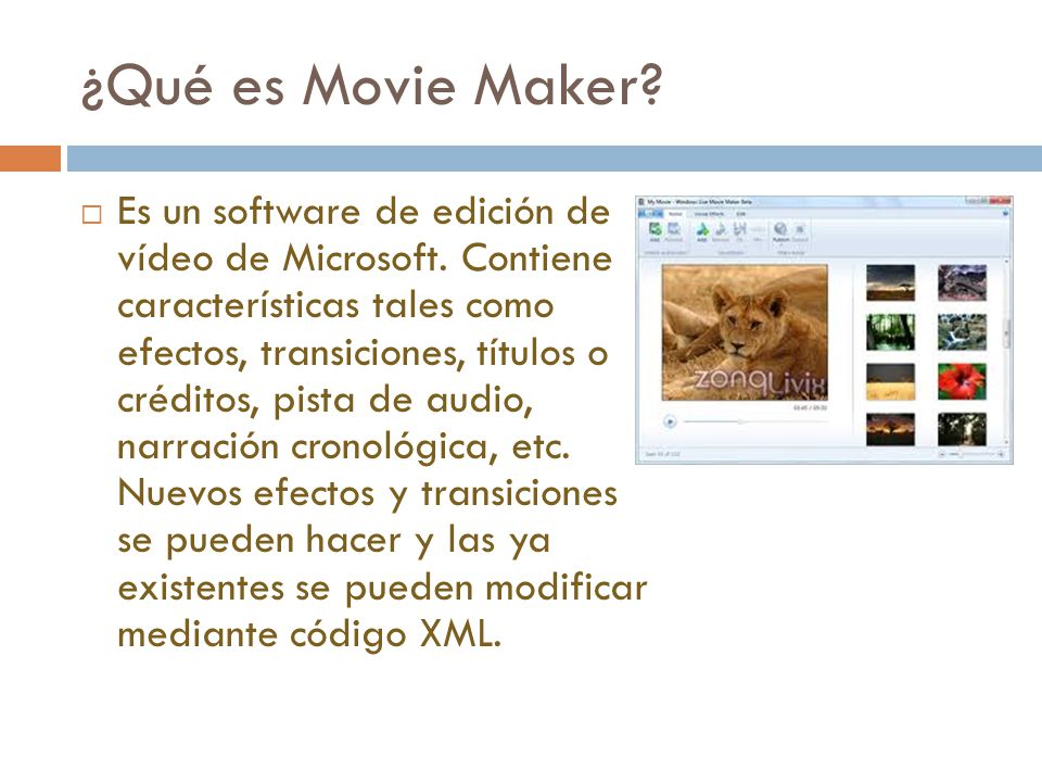 ¿Qué es Movie Maker