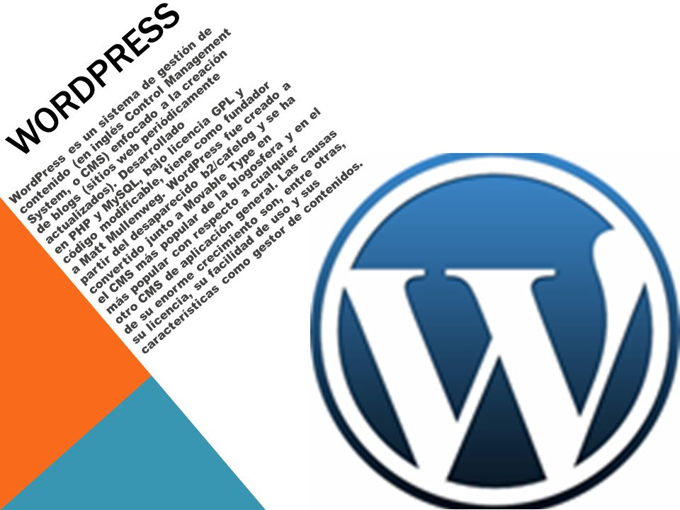 Weblogs WordPress Tumblr Blogger Posterous Lacoctelera Blogia - ppt ...
