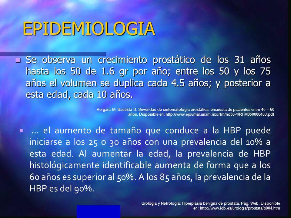 epidemiología y patogenia de la próstata ca en ppt pdf