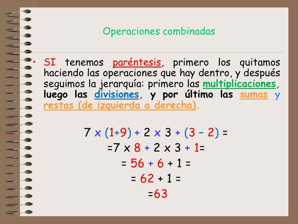 Resultado de imagen de operaciones combinadas con paréntesis