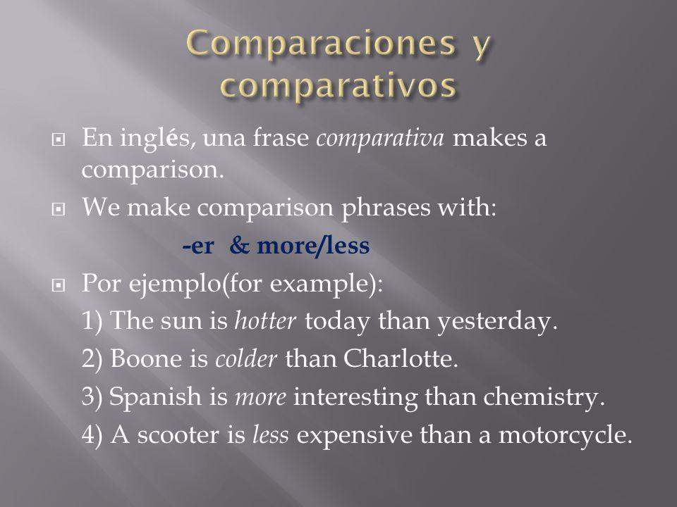 Comparaciones Comparativos Y Superlativos Ppt Descargar