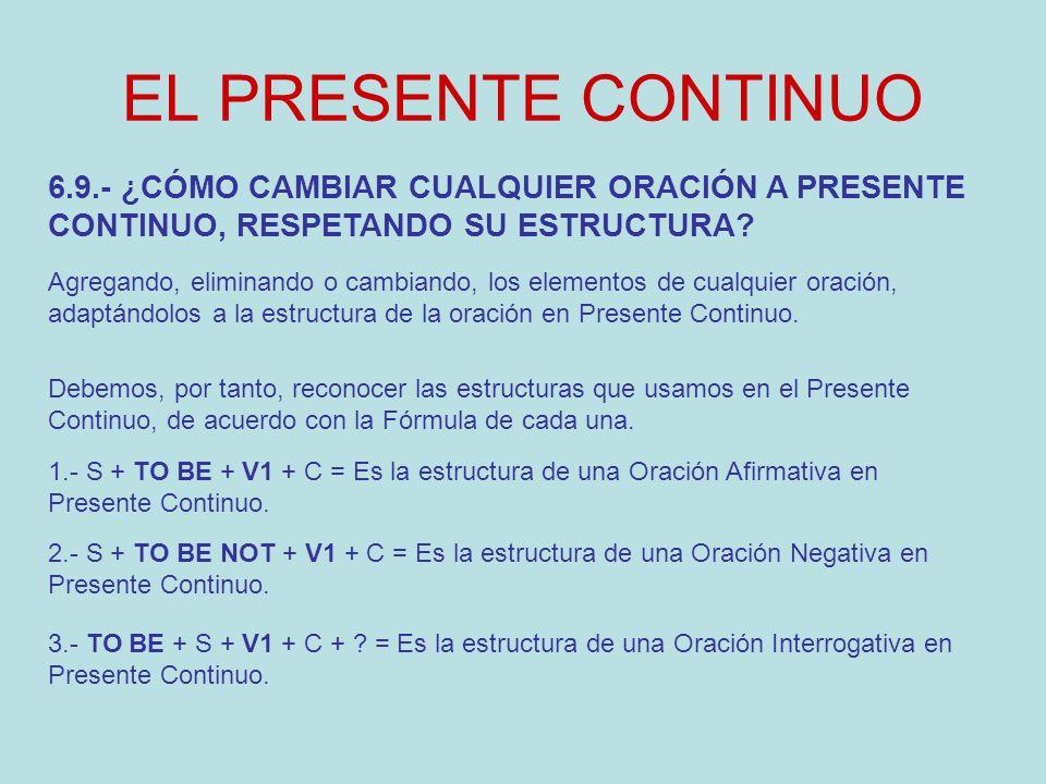 Clases De Inglés El Presente Continuo U E Agustin Armario