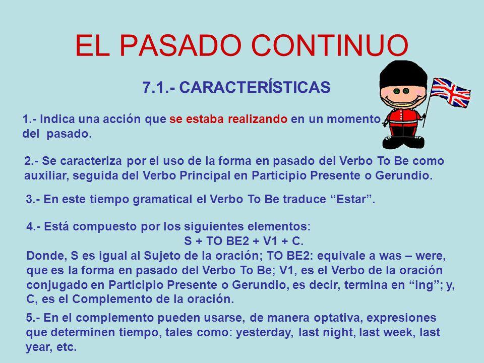 Clases De Inglés El Pasado Continuo U E Agustin Armario