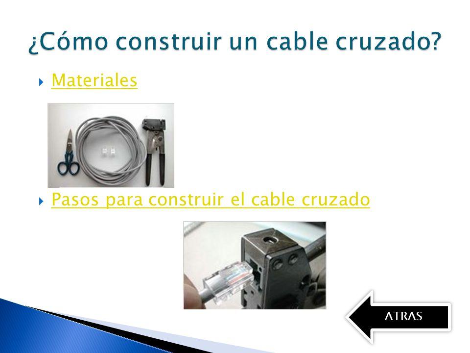 Pasos Para Construir Un Cable Cruzado Y Directo Ppt Descargar