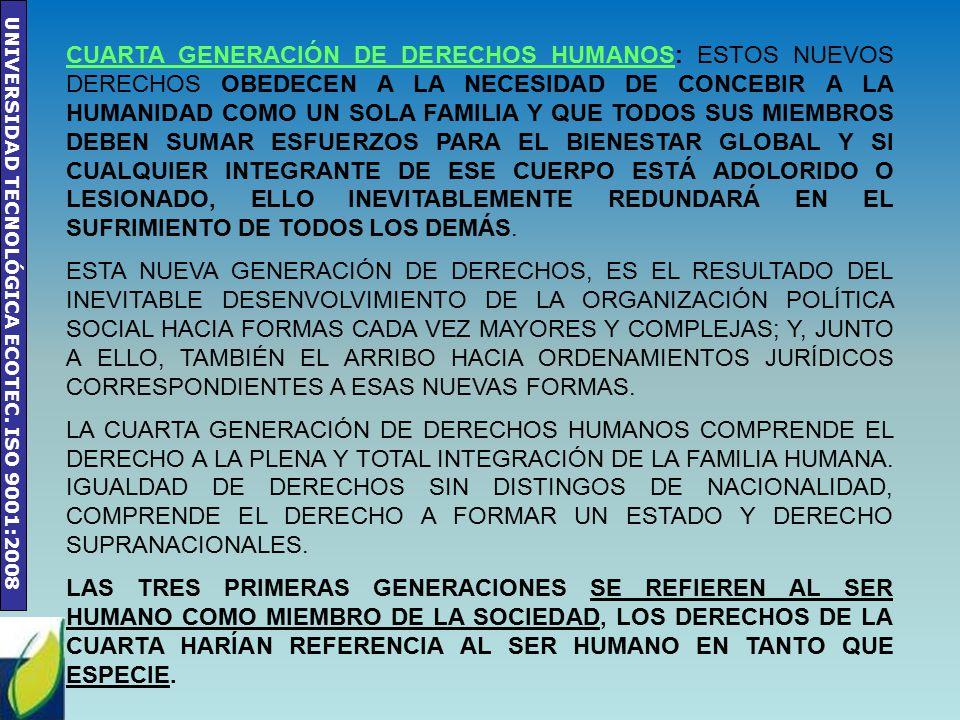 Capítulo II DERECHOS HUMANOS: GENERACIONES Y ORGANISMOS ...