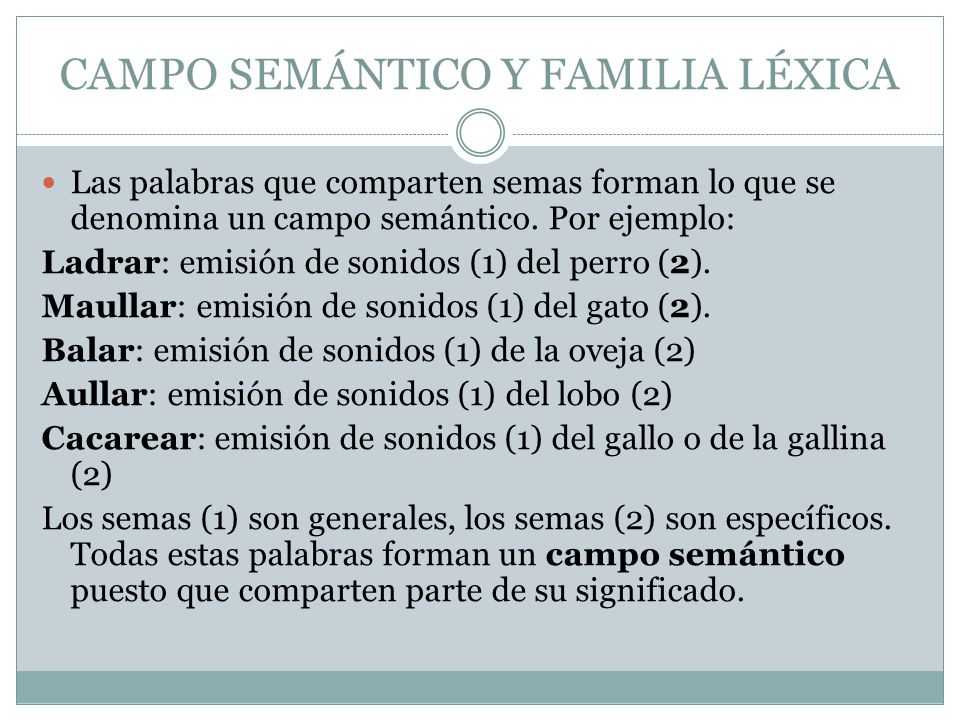 Semantica Y Léxico Tema 7 1 º De Bach Ppt Descargar