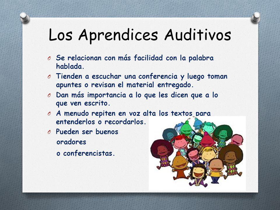Resultado de imagen para aprendices auditivos