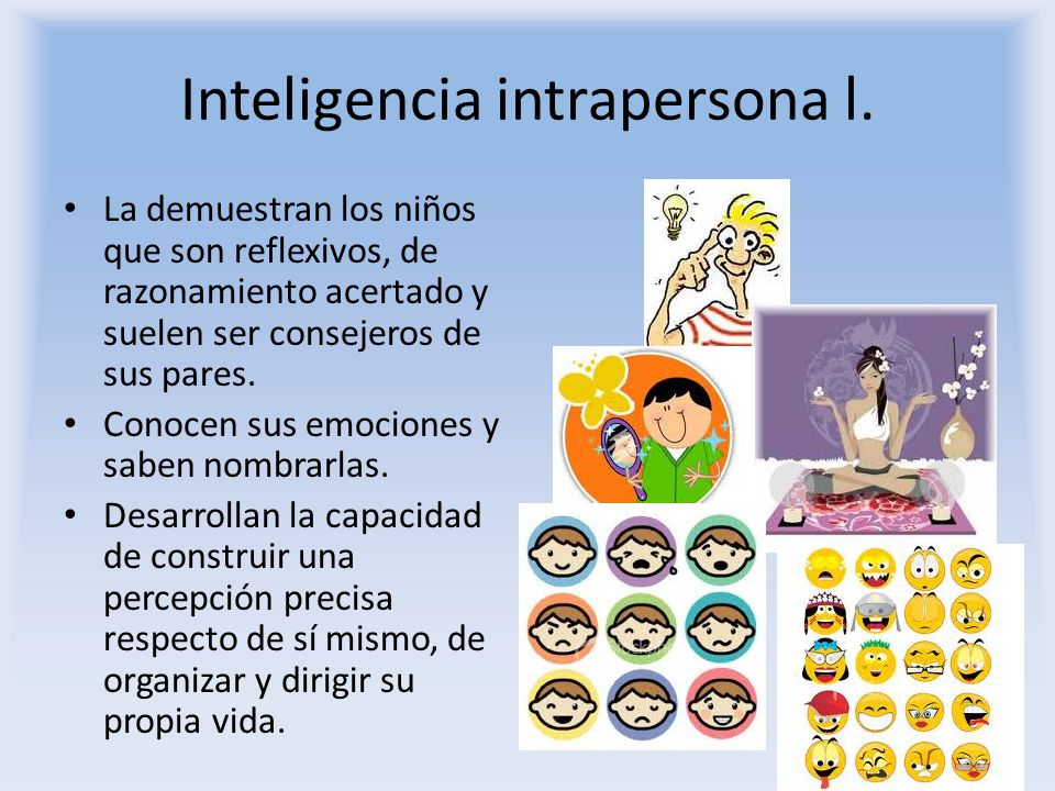Inteligencia intrapersona l.