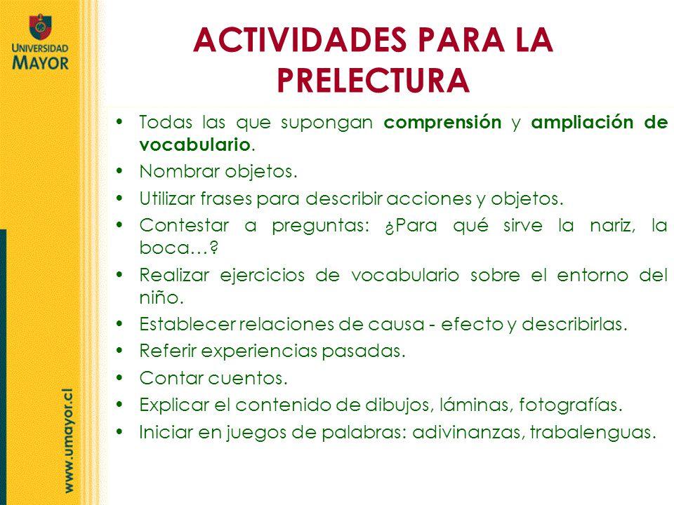 ACTIVIDADES PARA LA PRELECTURA - ppt video online descargar