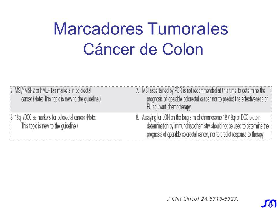 cancer de colon marcadores tumorales)