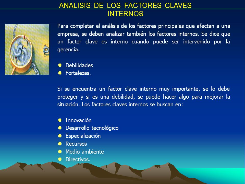 ANALISIS DE LOS FACTORES CLAVES INTERNOS