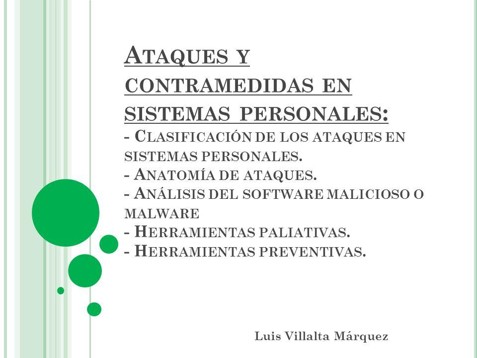 Ataques y contramedidas en sistemas personales: - Clasificación de ...