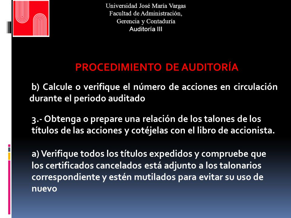 Auditoría del Capital Expositor: Jesús Rodolfo Andrade L. Profesora ...
