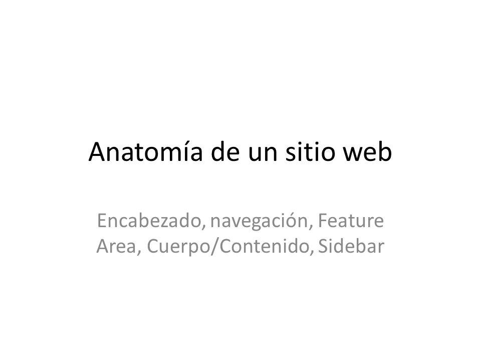 Anatomía de un sitio web - ppt descargar