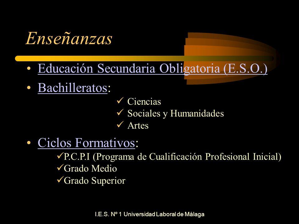I E S Nº 1 Universidad Laboral De Málaga Ppt Descargar