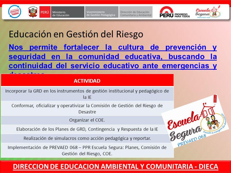 Direccion De Educacion Comunitaria Y Ambiental Ppt Video Online Descargar
