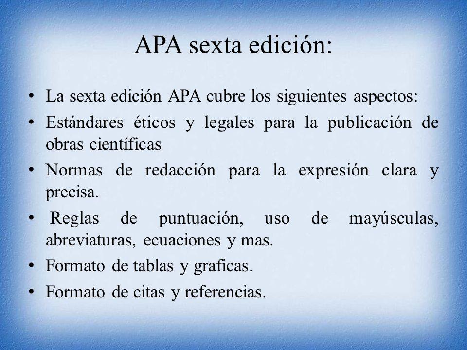 Guía Para Redacción En El Estilo Apa 6ta Edición Ppt