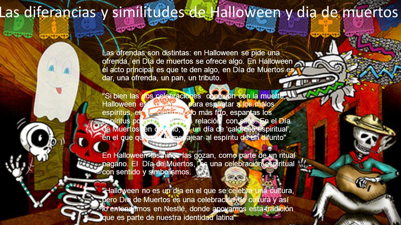 Las diferancias y similitudes de Halloween y dia de muertos