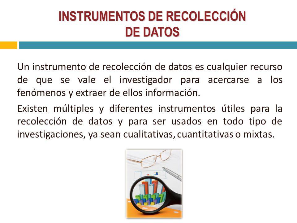 Instrumentos de recoleccion de datos ppt
