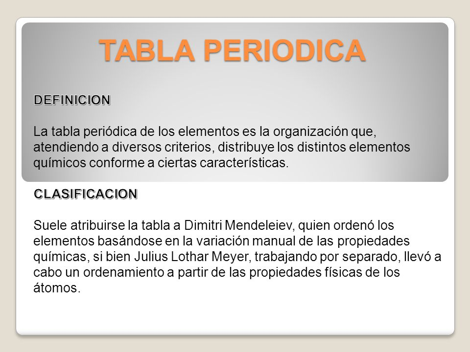Tabla periodica emilio esteban prez crdenas ppt descargar 2 tabla periodica definicion urtaz Images