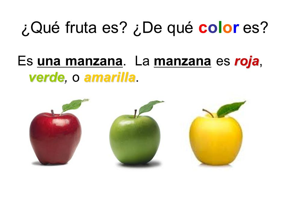 Las frutas y los colores - ppt descargar