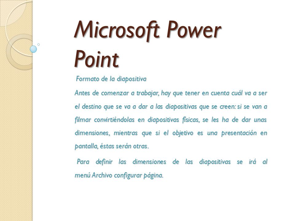 "Microsoft Power Point Tema: ""Como manejo del Power Point como ..."