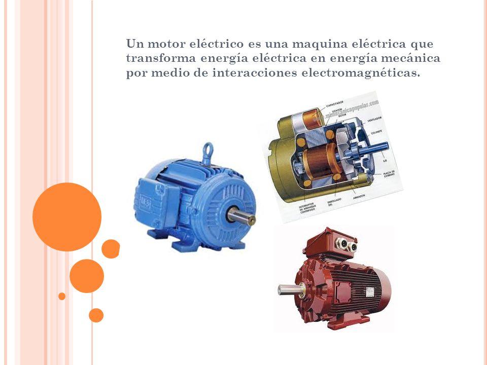 3f7d5f71b32 2 Un motor eléctrico es una maquina eléctrica que transforma energía  eléctrica en energía mecánica por medio de interacciones electromagnéticas.