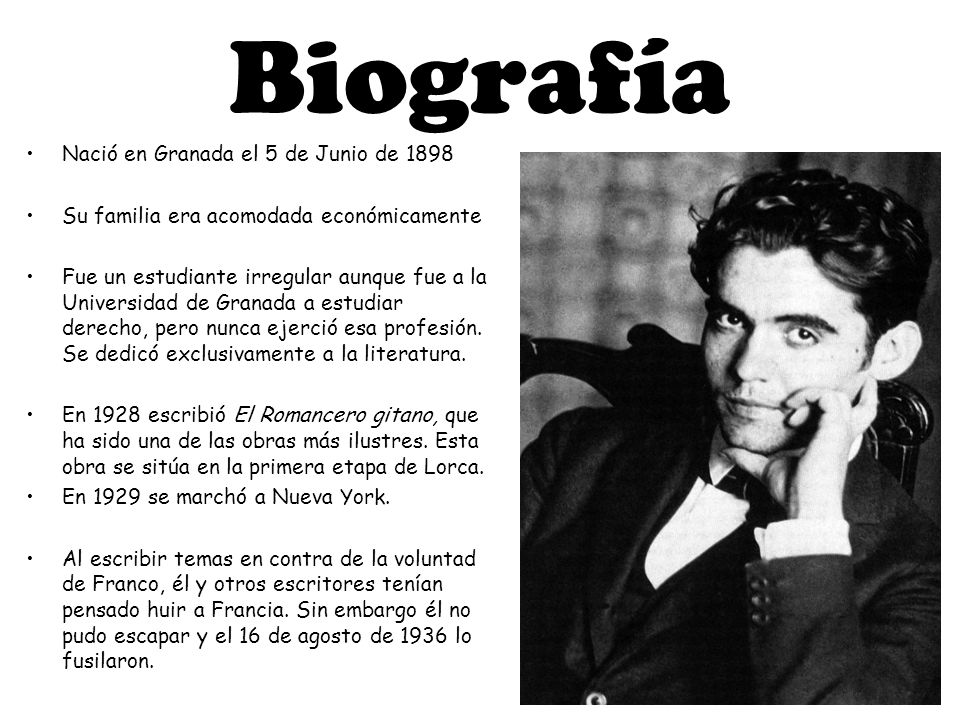 Federico Garcia Lorca Ainara Jonatan D B H Ppt Descargar