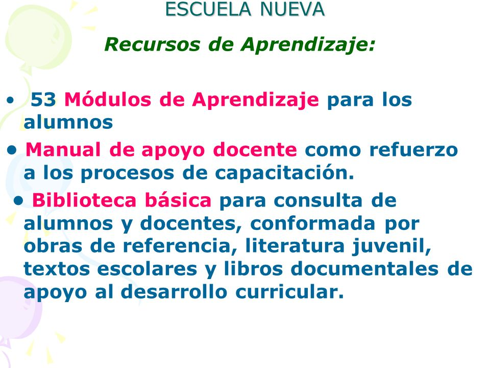 Modelo Educativo Escuela Nueva Ppt Descargar