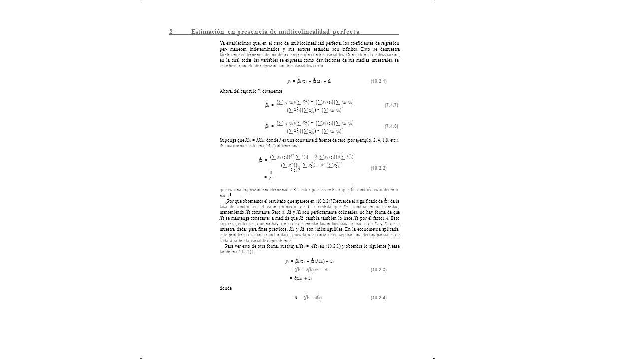 errores de especificacion multicolinealidad y observaciones atipicas