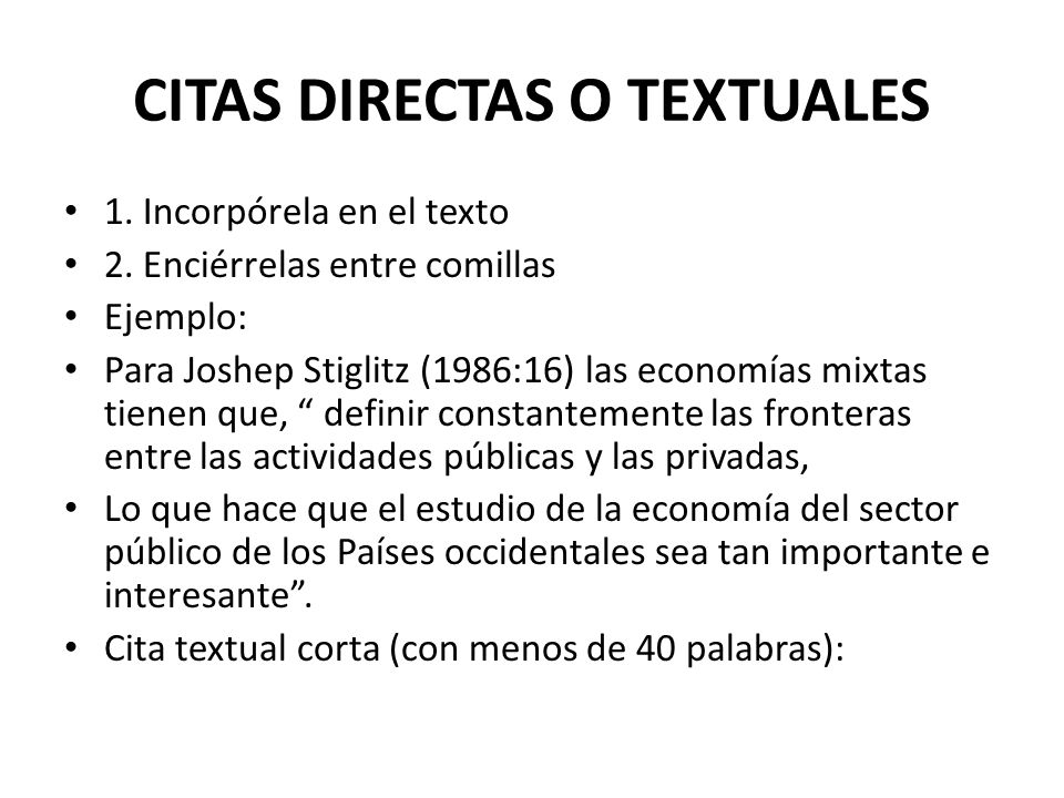 Citas En El Texto Ppt Video Online Descargar