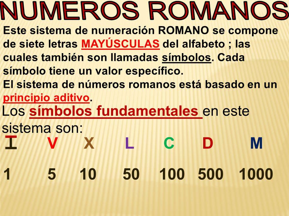 Los Números Romanos Grado 5 I V X L C D M Ppt Descargar