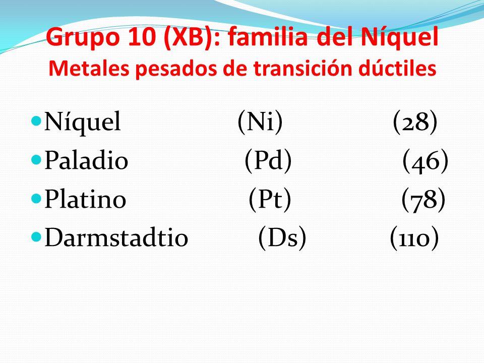 Tema 3 moleculas atomos y moles ppt descargar grupo 10 xb familia del nquel metales pesados de transicin dctiles urtaz Image collections