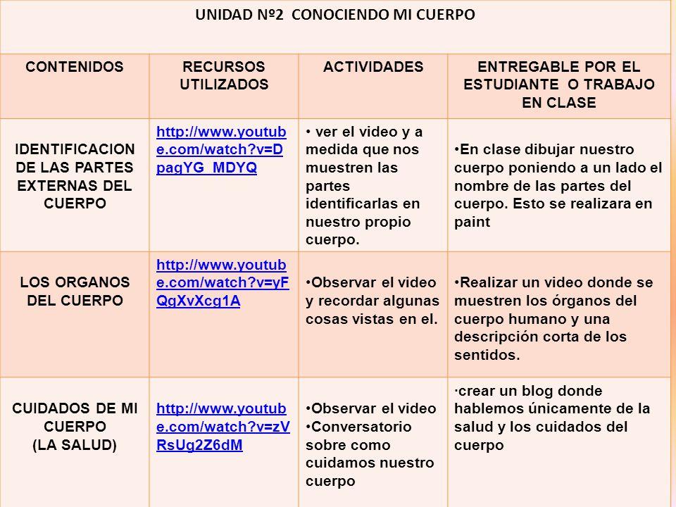 TABLA DE CONTENIDO ACTIVIDADES ppt descargar