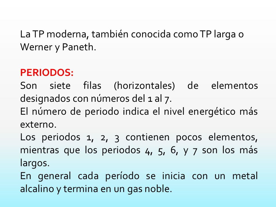 La tabla peridica actual ppt descargar la tp moderna tambin conocida como tp larga o werner y paneth urtaz Choice Image