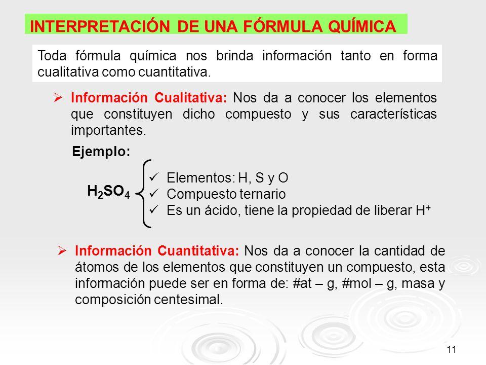 Qumica unidades qumicas de masa ppt video online descargar 11 interpretacin de una frmula qumica toda frmula qumica nos brinda informacin urtaz Choice Image