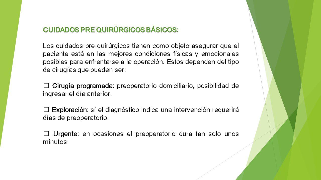 04c60b142 CUIDADOS DE ENFERMERIA EN EL PREOPERATORIO - ppt video online descargar